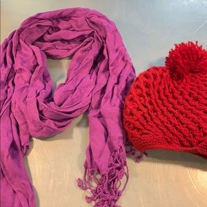 Accessories - Scarf and hat bundle.